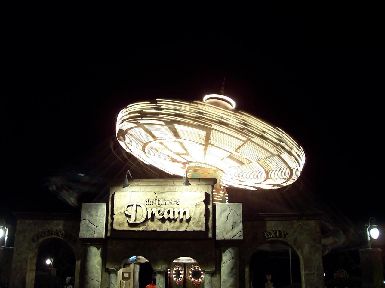 Da Vinci's Dream at night.