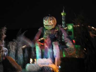 It was Haunted Graveyard season. (Blurry.)