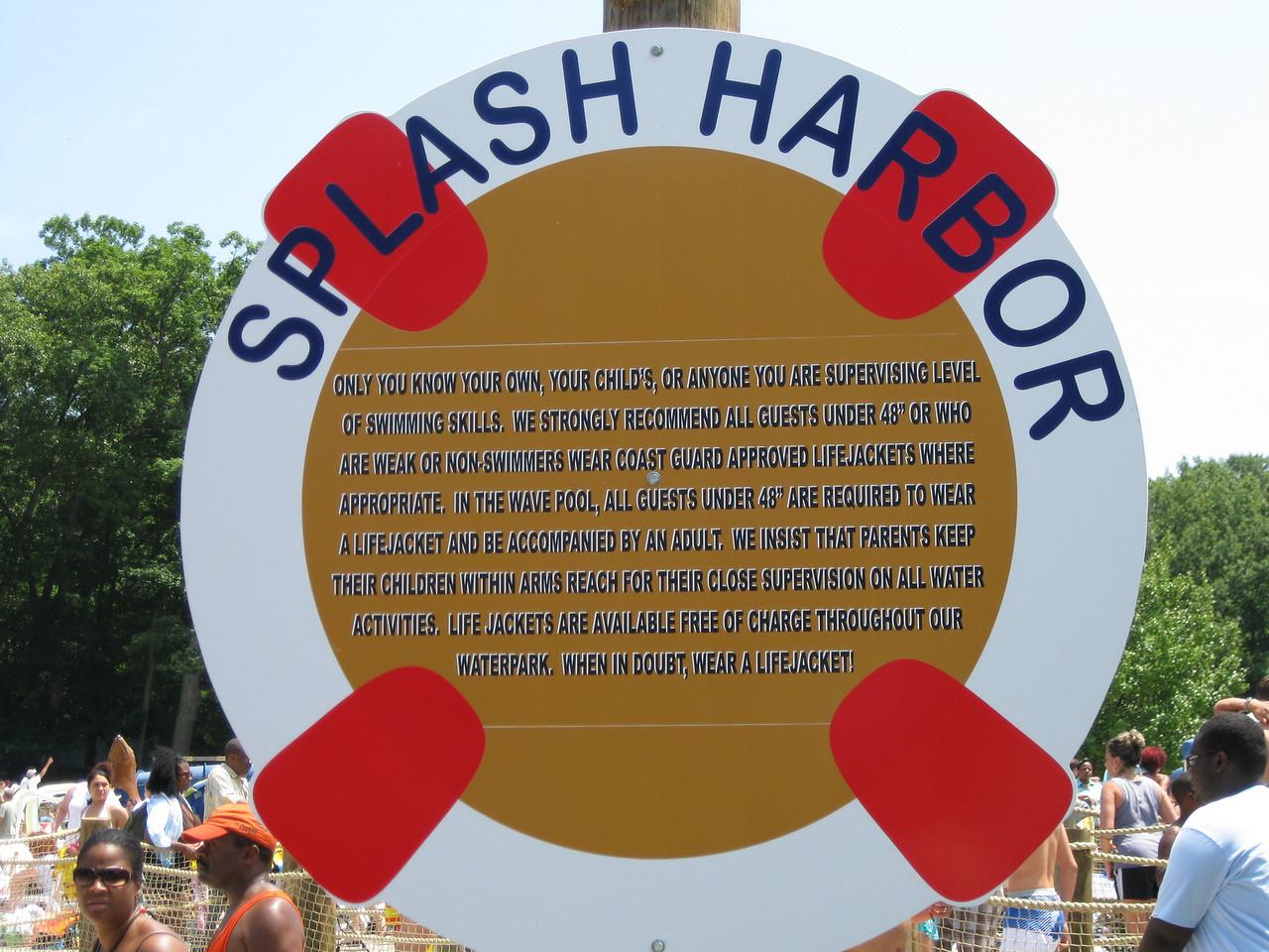 New Splash Harbor rules.