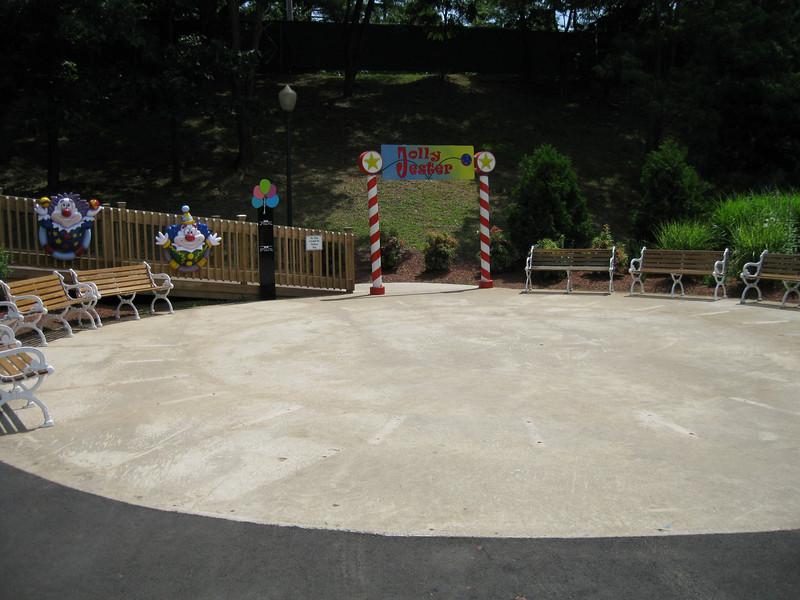 The circular pad in front of Jolly Jester.