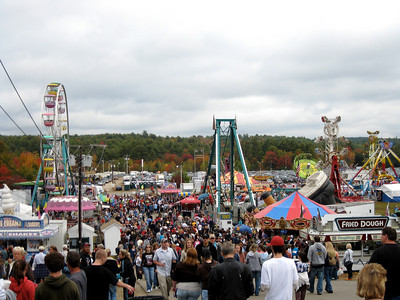 The midway was crowded.