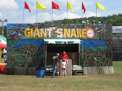 "Giant Snake, $1, ""Alive""."