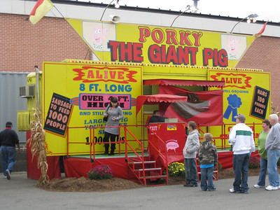 Porky the Giant Pig sideshow.