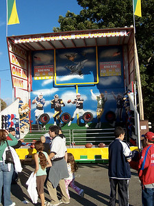 There was a new football toss game stand.