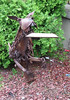 Dog scupture made from junk. Union St. in Brighton MA