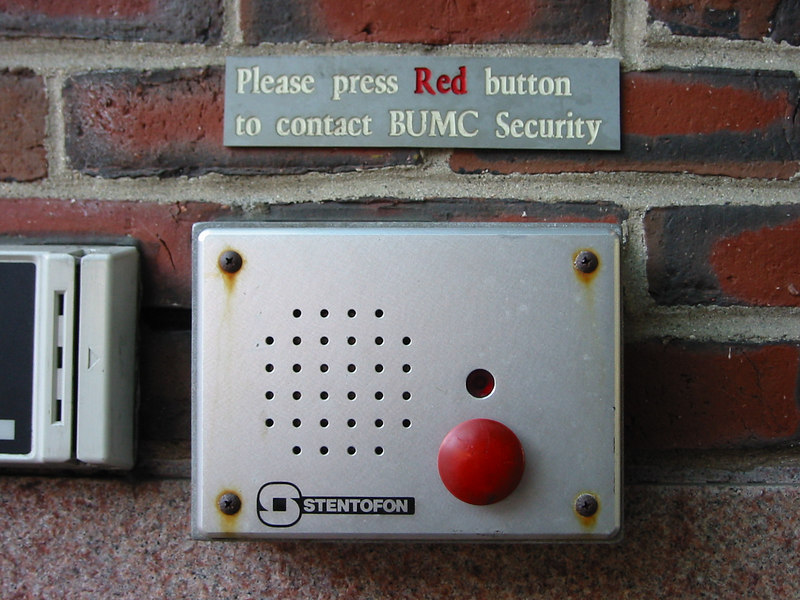 Which Red Button? Boston University Medical Campus. Boston, MA