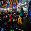 KRISTOPHER RADDER — BRATTLEBORO REFORMER<br /> Democratic presidential candidate Sen. Amy Klobuchar, D-Minn., holds a rally at Keene State College, in Keene, N.H., on Monday, Feb. 10, 2020, a day before the New Hampshire primaries.