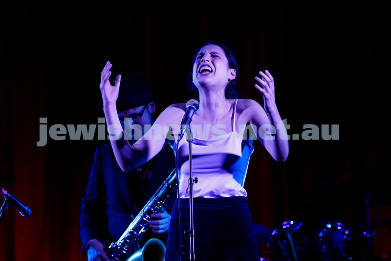 4-2-18. Amy Winehouse - A Tribute . Memo Music Hall, St Kilda. Alma Zygier. Photo: Peter Haskin