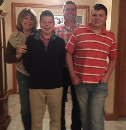 Frank, Amy, Frankie and Nick - Thanksgiving in Wapakoneta, November 23, 2017