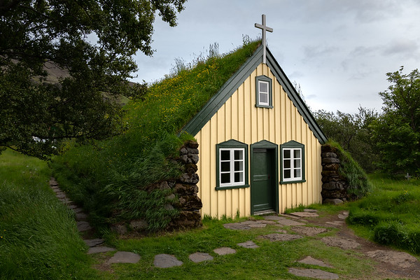 2018, Iceland, Hofskirkja, the last turf church in Iceland