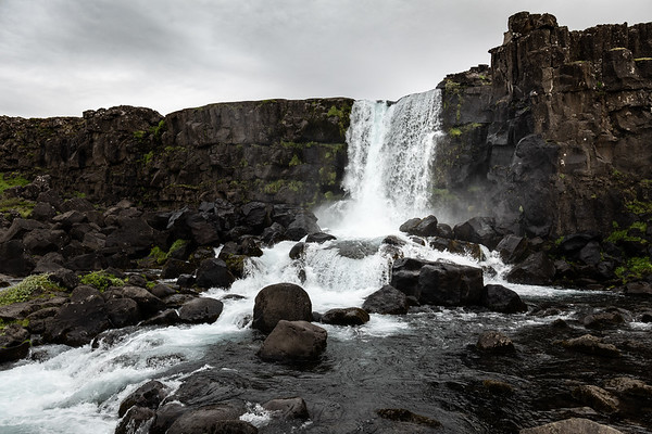 2018, Iceland, Pinguellir National Park, Oxarafoss waterfall