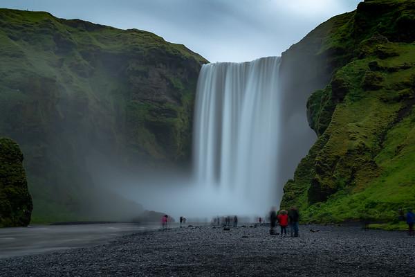 2018, Iceland, Skogafoss waterfall