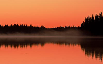 Morning at Astotin Lake