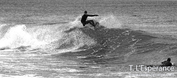 Winter Surf Black and White