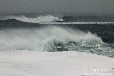 Winter Storm, Winter Waves, Nova Scotia Surf, Atlantic Ocean, Tim L'Esperance Photography