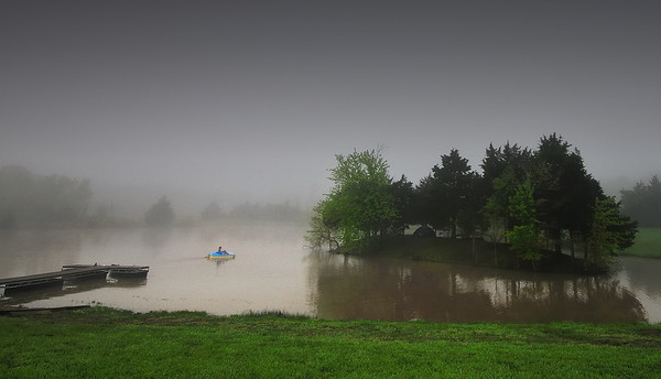 Blue Boat in the Fog July 15, 2008