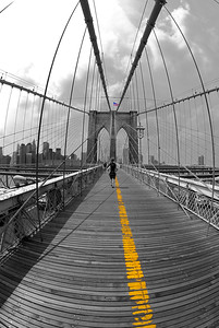 Follow the Yellow Line. . .  Another recovered image from my NYC trip.