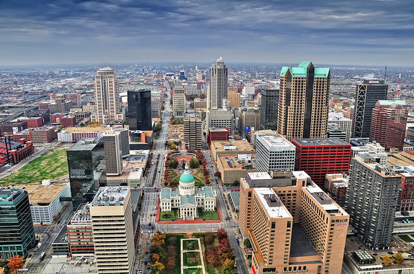 St. Louis - A View from the Arch November 12, 2008