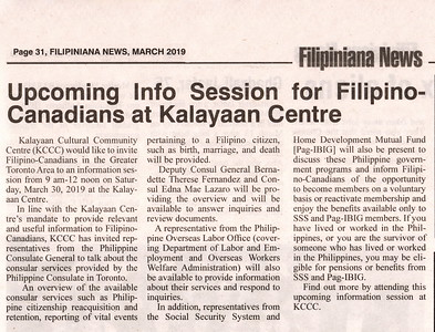 Filipiniana Press Release