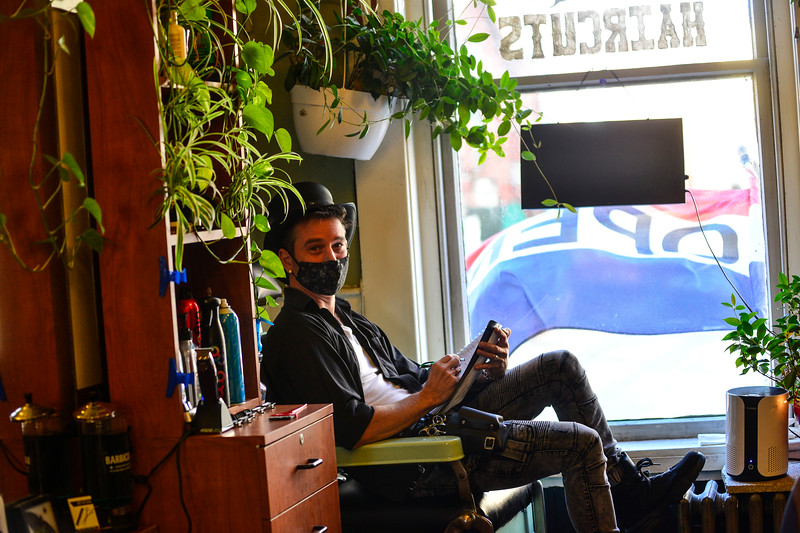 """Jeremy """"Remy"""" Anderson, owner of Main Street Hair, in Brattleboro, Vt., is holding an essay contest to give his barbershop away as he plans to open a new shop in Spain."""