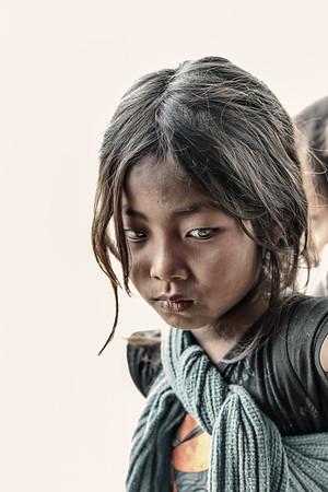 Young Konyak girl