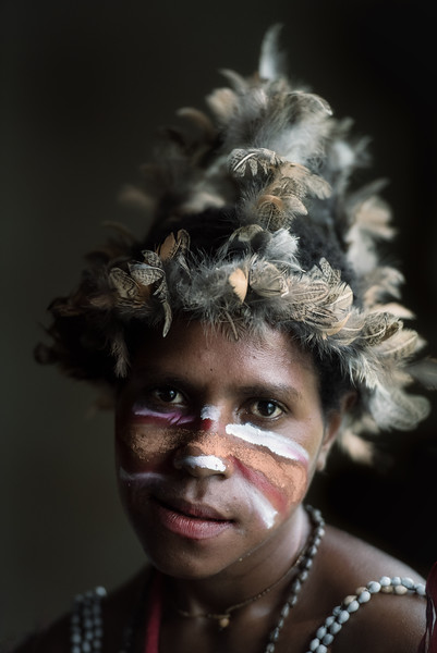 Beauty in a Papuan girl