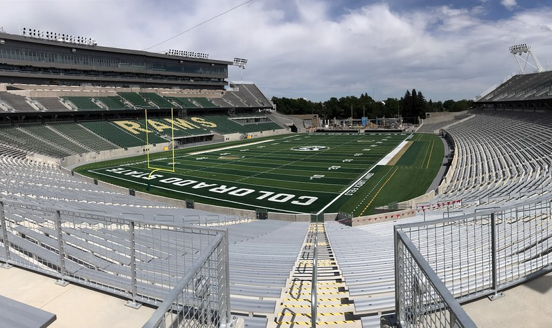 Colorado State recent substantial completion of its new on-campus stadium June 9 and has moved it's coaches and players into the facility. (Cris Tiller / Loveland Reporter-Herald)