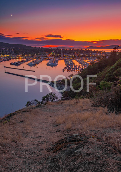 When the sun goes down in Anacortes Washington