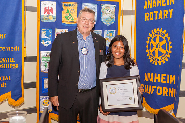 2015-06-01 Anaheim Rotary Meeting Teen Halo