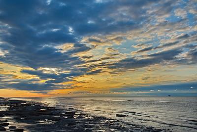 Gulf of Mexico Sunrise Along Bolivar Peninsular