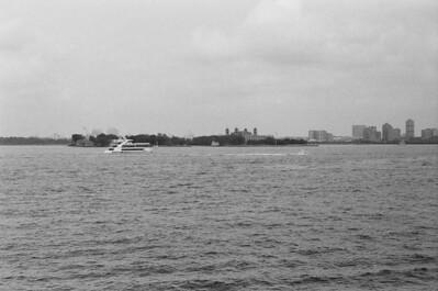 Ellis Island | Aboard Staten Island Ferry Lens: Nikkor 50mm f/1.4 Film: Kodak TRI-X iso400