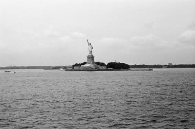 Lady Liberty | Aboard Staten Island Ferry Lens: Nikkor 50mm f/1.4 Film: Kodak TRI-X iso400