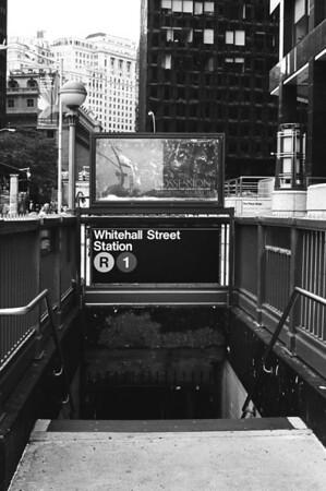 Whitehall Street Subway | Whitehall & Pearl Streets - Manhattan Lens: Nikkor 50mm f/1.4 Film: Kodak TRI-X iso400