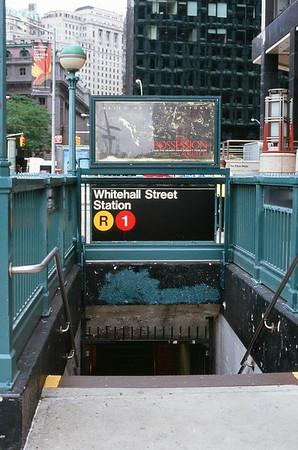 Whitehall Street Subway | Whitehall & Pearl Streets - Manhattan Lens: Nikkor 50mm f/1.8 Film: Fujichrome Velvia iso100