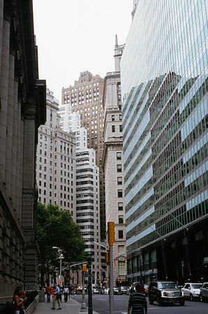 Whitehall Street - Manhattan Lens: Nikkor 50mm f/1.8 Film: Fujichrome Velvia iso100