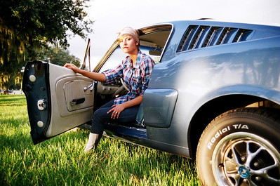 Model: Camille Young Car: 1963 Mustang Camera: Pentax K1000