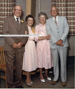 Cebert and Mildred Bauman Hornback with Louise Winters aand Morris Byrd