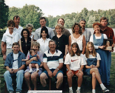 Bill and Berta Bauman and family 2002
