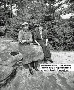 Louisa Bauman with sister in law Lizzie Bauman