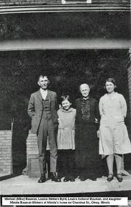 Mike Bauman Louise Winters Byrd Louisa Scherer Bauman and dtr Minnie Bauman Winters
