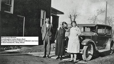 Mike and Louisa Bauman Granddaughter Louisa Winters Byrd and dtr Minnie Bauman Winters