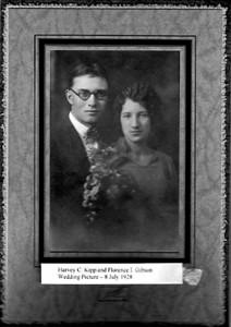 Harvey Kipp Florence Gibson Wedding Photo