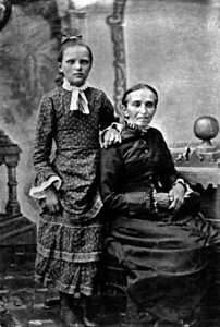 Sarah Wolf Kipp and unknown girl