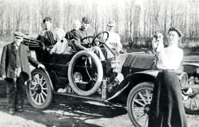 Dad in Mitchell Car 1910 1912