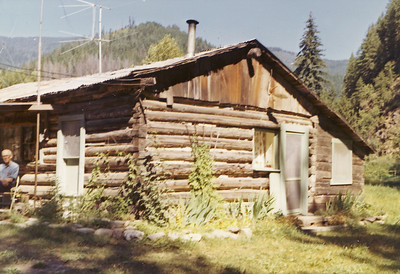 Paul Carlson and cabin Murray ID