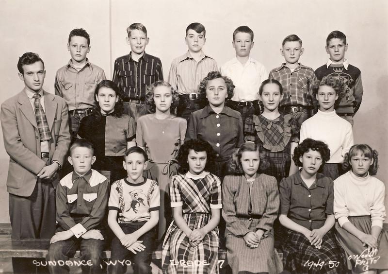 Tobylea and Jack Petera Class Photo 1949-50