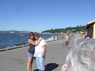 Shelby and Carol at Alki Beach, Seattle