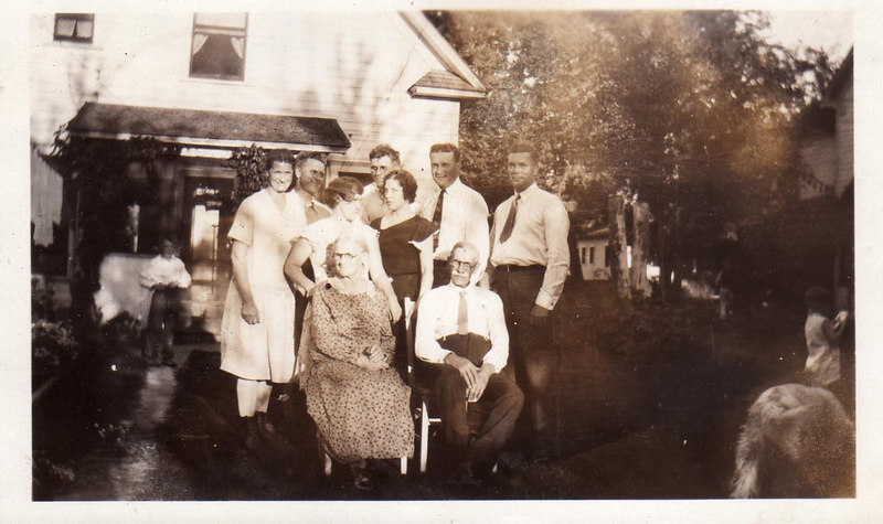 The Emil Landin Family (Seated:  Emma and Emil Landin Standing:  (Front) Standing: (Back)