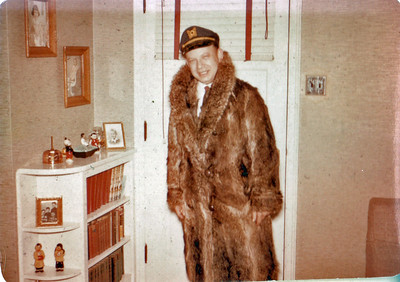 Morris in fur coat