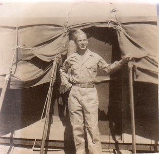 Morris by tent